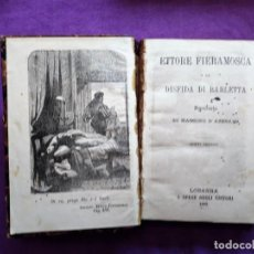 Libros antiguos: ETTORE FIERAMOSCA O LA DISFIDA DI BARLETTA 1862 LOSANNA RACCONTO DI M. D AZEGLIO. Lote 203591216