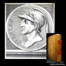 Libros antiguos: AÑO 1684 PERICLES ARÍSTIDES CATÓN EL CENSOR ANTIGUA GRECIA Y ROMA PLUTARCO VIDAS PARALELAS GRABADOS. Lote 203789788