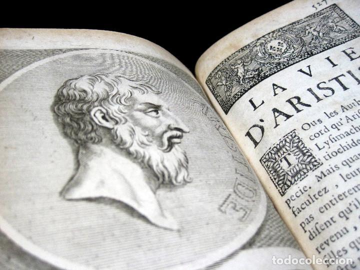 Libros antiguos: Año 1684 Pericles Arístides Catón el Censor Antigua Grecia y Roma Plutarco Vidas paralelas Grabados - Foto 2 - 203789788