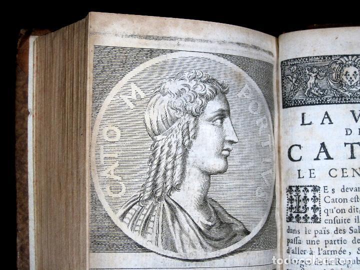 Libros antiguos: Año 1684 Pericles Arístides Catón el Censor Antigua Grecia y Roma Plutarco Vidas paralelas Grabados - Foto 3 - 203789788