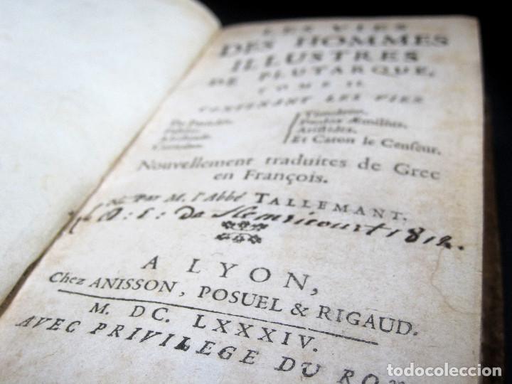 Libros antiguos: Año 1684 Pericles Arístides Catón el Censor Antigua Grecia y Roma Plutarco Vidas paralelas Grabados - Foto 6 - 203789788