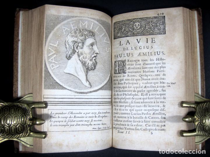 Libros antiguos: Año 1684 Pericles Arístides Catón el Censor Antigua Grecia y Roma Plutarco Vidas paralelas Grabados - Foto 7 - 203789788