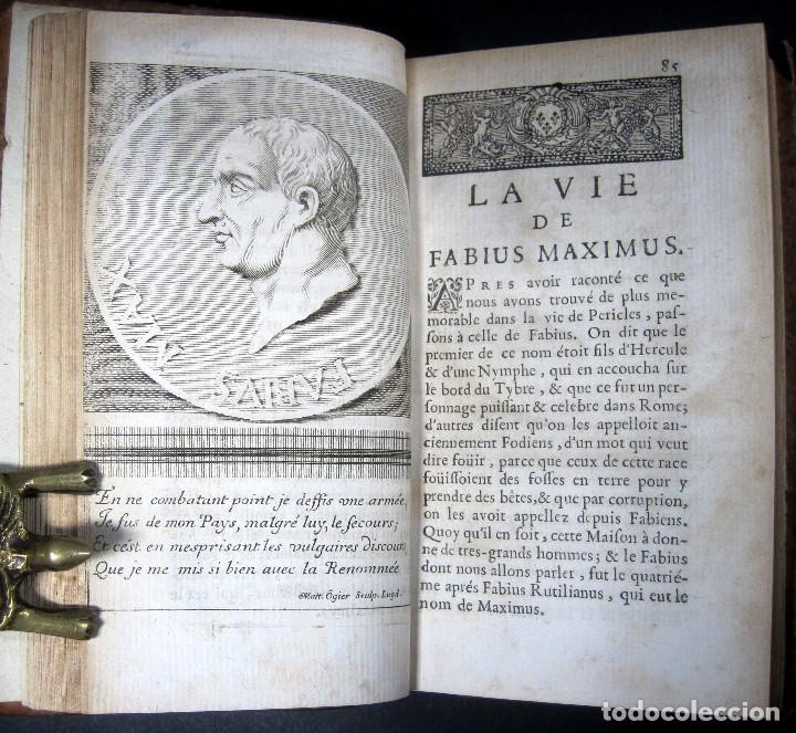 Libros antiguos: Año 1684 Pericles Arístides Catón el Censor Antigua Grecia y Roma Plutarco Vidas paralelas Grabados - Foto 8 - 203789788