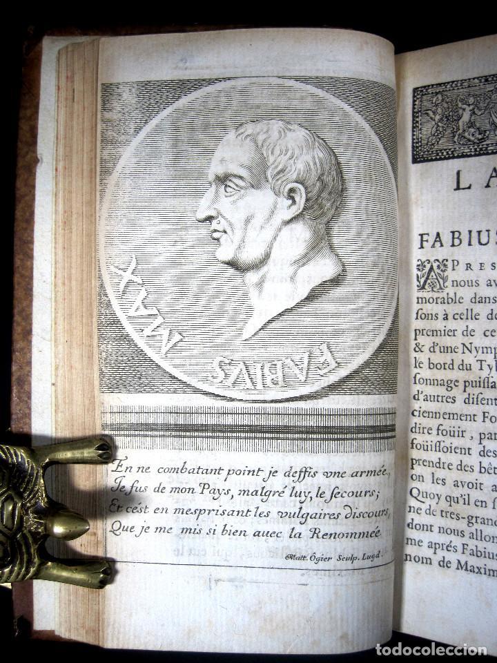 Libros antiguos: Año 1684 Pericles Arístides Catón el Censor Antigua Grecia y Roma Plutarco Vidas paralelas Grabados - Foto 9 - 203789788