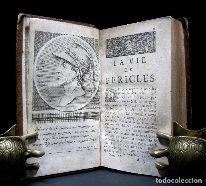 Libros antiguos: Año 1684 Pericles Arístides Catón el Censor Antigua Grecia y Roma Plutarco Vidas paralelas Grabados - Foto 10 - 203789788
