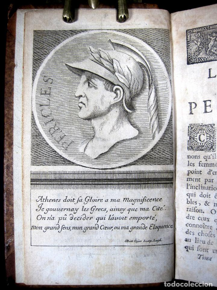Libros antiguos: Año 1684 Pericles Arístides Catón el Censor Antigua Grecia y Roma Plutarco Vidas paralelas Grabados - Foto 11 - 203789788
