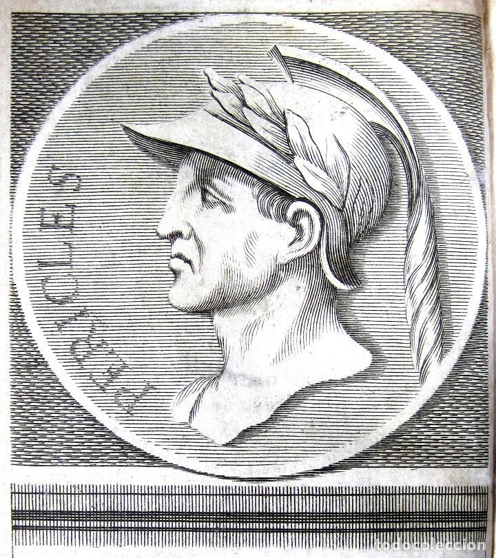 Libros antiguos: Año 1684 Pericles Arístides Catón el Censor Antigua Grecia y Roma Plutarco Vidas paralelas Grabados - Foto 12 - 203789788