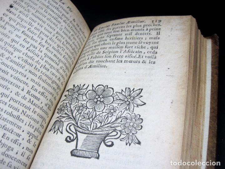 Libros antiguos: Año 1684 Pericles Arístides Catón el Censor Antigua Grecia y Roma Plutarco Vidas paralelas Grabados - Foto 13 - 203789788
