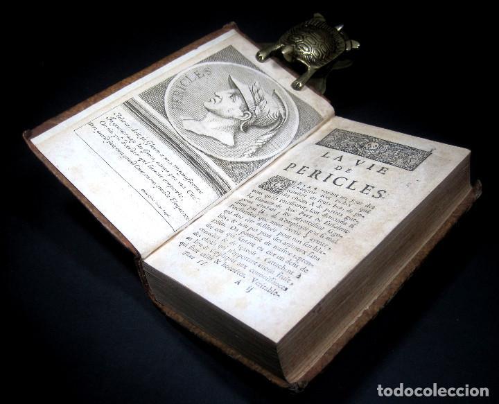 Libros antiguos: Año 1684 Pericles Arístides Catón el Censor Antigua Grecia y Roma Plutarco Vidas paralelas Grabados - Foto 14 - 203789788