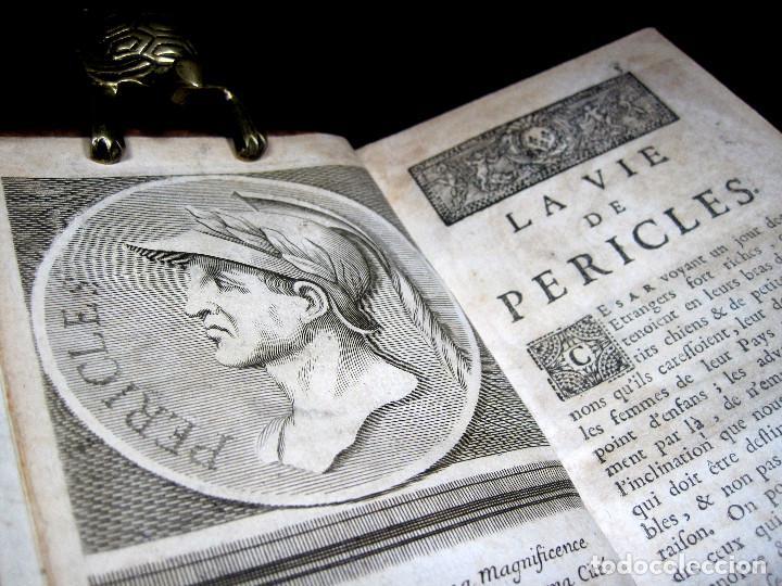 Libros antiguos: Año 1684 Pericles Arístides Catón el Censor Antigua Grecia y Roma Plutarco Vidas paralelas Grabados - Foto 15 - 203789788