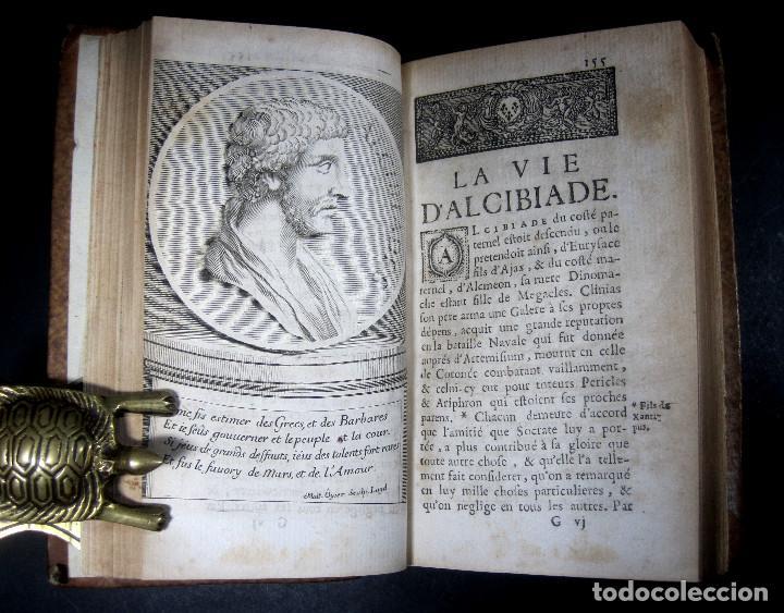 Libros antiguos: Año 1684 Pericles Arístides Catón el Censor Antigua Grecia y Roma Plutarco Vidas paralelas Grabados - Foto 16 - 203789788