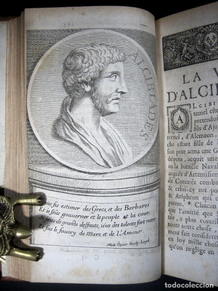 Libros antiguos: Año 1684 Pericles Arístides Catón el Censor Antigua Grecia y Roma Plutarco Vidas paralelas Grabados - Foto 17 - 203789788