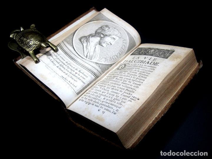Libros antiguos: Año 1684 Pericles Arístides Catón el Censor Antigua Grecia y Roma Plutarco Vidas paralelas Grabados - Foto 18 - 203789788