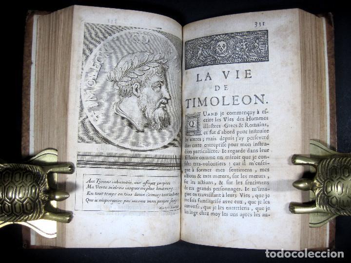Libros antiguos: Año 1684 Pericles Arístides Catón el Censor Antigua Grecia y Roma Plutarco Vidas paralelas Grabados - Foto 21 - 203789788