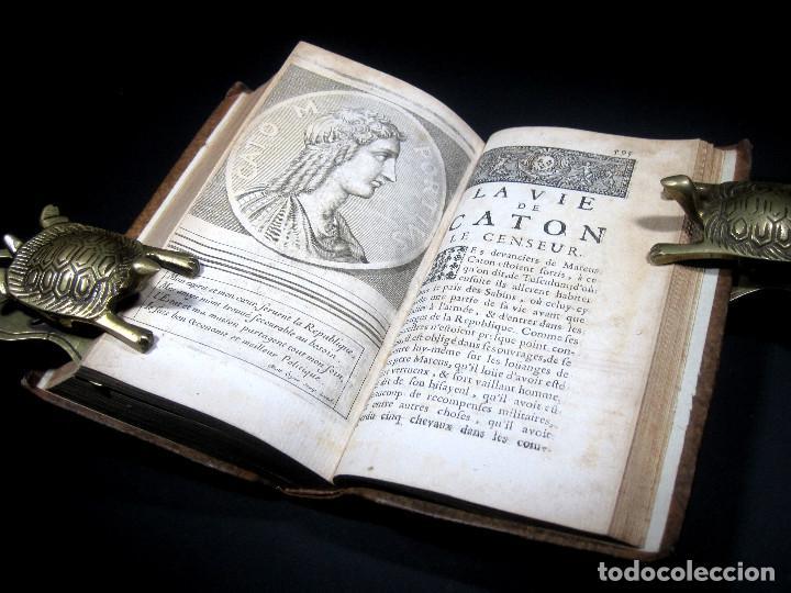 Libros antiguos: Año 1684 Pericles Arístides Catón el Censor Antigua Grecia y Roma Plutarco Vidas paralelas Grabados - Foto 23 - 203789788