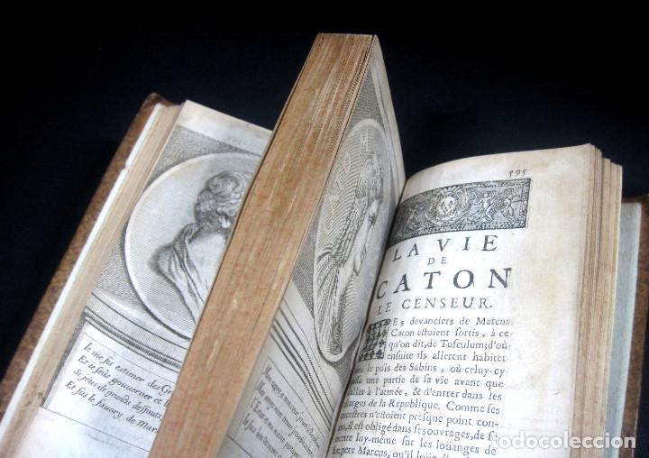 Libros antiguos: Año 1684 Pericles Arístides Catón el Censor Antigua Grecia y Roma Plutarco Vidas paralelas Grabados - Foto 26 - 203789788