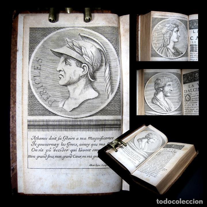 Libros antiguos: Año 1684 Pericles Arístides Catón el Censor Antigua Grecia y Roma Plutarco Vidas paralelas Grabados - Foto 29 - 203789788