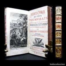 Libros antiguos: AÑO 1715 HISTORIA DE LOS TRIUNVIRATOS DE LA ANTIGUA ROMA CLEOPATRA CÉSAR POMPEYO ANTONIO GRABADO. Lote 203812915