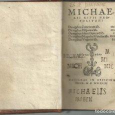 Libros antiguos: MICHAELIS RITII NEAPOLITANI, BASILEA, FROBEN 1534.. Lote 203884120