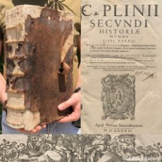 Libros antiguos: 1582 - C. PLINII - HISTORIAE MUNDI - HISTORIA NATURAL - PLINIO - FOLIO - ANIMALES MITOLÓGICOS. Lote 204143281