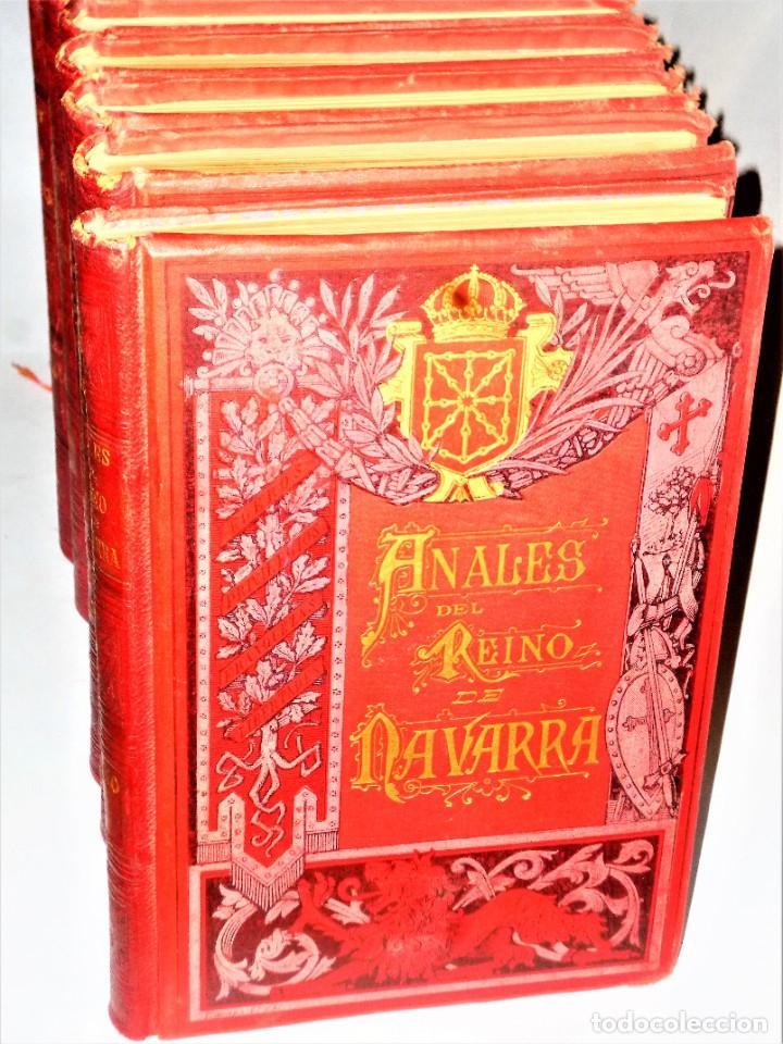 Libros antiguos: ANALES DEL REINO DE NAVARRA. 12 TOMOS (Dedicatoria) - Foto 2 - 205349250