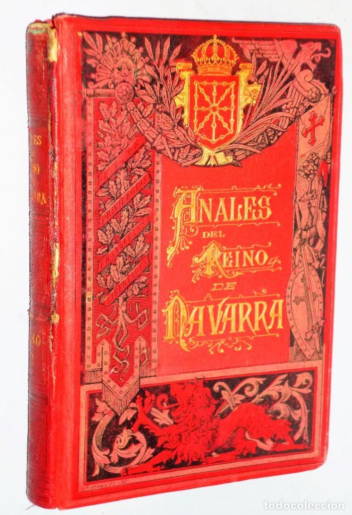 Libros antiguos: ANALES DEL REINO DE NAVARRA. 12 TOMOS (Dedicatoria) - Foto 3 - 205349250