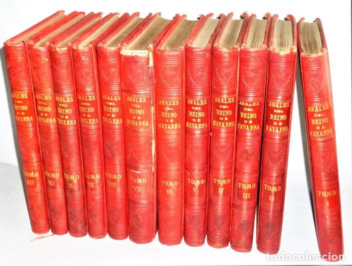 Libros antiguos: ANALES DEL REINO DE NAVARRA. 12 TOMOS (Dedicatoria) - Foto 6 - 205349250