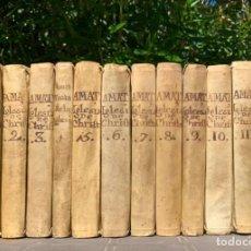 Libri antichi: 1793 TRATADO DE LA IGLESIA DE JESU-CHRISTO - FÉLIX AMAT - REGALO DEL AUTOR A SU HERMANA - PERGAMINO. Lote 205349961