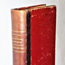Libros antiguos: CONTRIBUCIONES É IMPUESTOS EN LEÓN Y CASTILLA DURANTE LA EDAD MEDIA. Lote 205355745