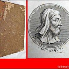 Libros antiguos: AÑO 1804: PLUTARCO: VIDAS DE HOMBRES ILUSTRES. CON BELLAS ILUSTRACIONES.. Lote 205854666