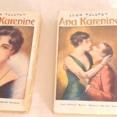 Libros antiguos: 2 LIBROS LEON TOSLTOY ANA KARENINE. Lote 206252672