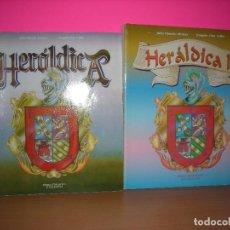 Libros antiguos: HERALDICA I Y II - J OLMEDO ALVAREZ - J DIAZ VALLES - EDICIONES PEREA - 1989 / 1997. Lote 206306173