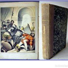 Livros antigos: AÑO 1880: AMÉRICA: COLÓN, HERNÁN CORTÉS Y PIZARRO. CON CROMOLITOGRAFÍAS.. Lote 207579821
