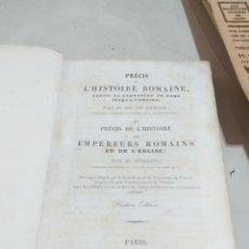 Libros antiguos: PRECIS HISTORIE ROMAINE DE PARIS 1840 EMPEREURS ROMAINS ET DE L EGLISE. Lote 207643860
