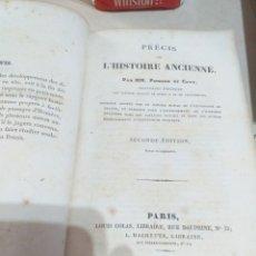 Libros antiguos: PRECIS L HISTOIRE ANCIENNE PARIS 1828 SECONDE EDITION. Lote 207643915