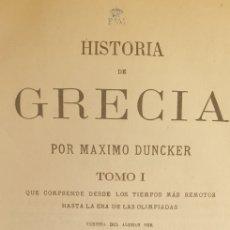 Libros antiguos: HISTORIA DE GRECIA (1880) 7 VOLÚMENES. Lote 208937005