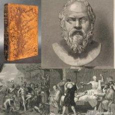 Livros antigos: 1866 - HISTORIA DE LOS TIEMPOS ANTIGUOS - FILOSOFIA GRIEGA - BATALLA DE LAS TERMÓPILAS - GRABADOS. Lote 209126557
