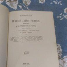 Libros antiguos: 1979. FACSÍMIL. TROVAS DE MOSSEN JAIME FEBRER, CONQUISTADORES DE VALENCIA.. Lote 209613437