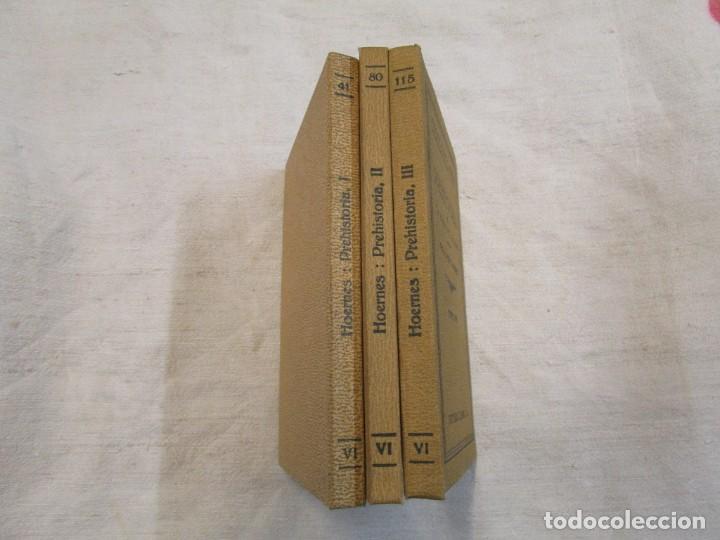 Libros antiguos: Prehistoria, tres tomos, Moritz Hoernes, Labor, 1928, 1934, 1931, nº 41/80/115, excelentes + INFO - Foto 2 - 209823083