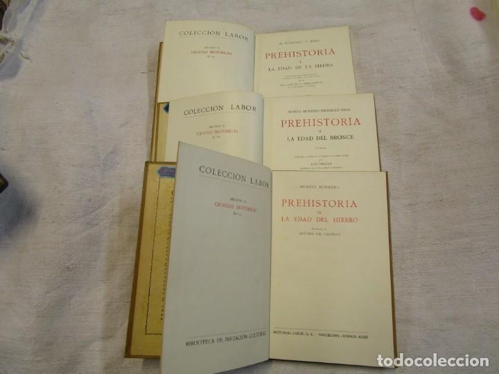 Libros antiguos: Prehistoria, tres tomos, Moritz Hoernes, Labor, 1928, 1934, 1931, nº 41/80/115, excelentes + INFO - Foto 3 - 209823083
