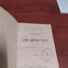Libros antiguos: LOS ANALES DE CAYO CORNELIO TÁCITO.. Lote 210386210