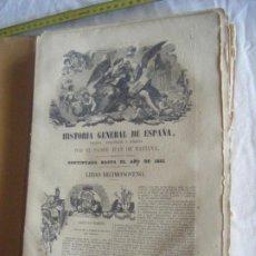 Livros antigos: JML COLECCIONABLE HISTORIA GENERAL DE ESPAÑA JUAN DE MARIANA LIBRO DECIMONOVENO HASTA PAG 352, 1851. Lote 211848261