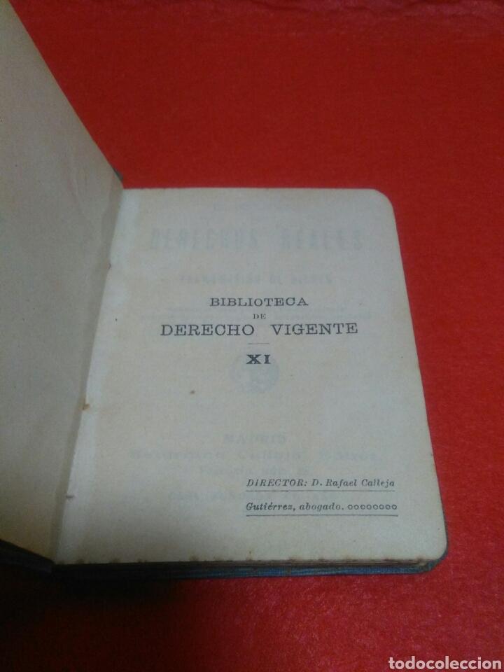 Libros antiguos: Pequeño libro de derechos reales S.calleja -Madrid 1876 - Foto 2 - 212058078