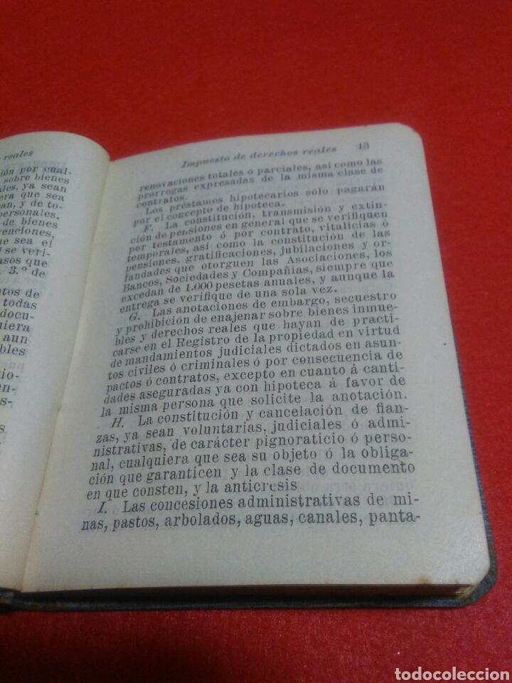 Libros antiguos: Pequeño libro de derechos reales S.calleja -Madrid 1876 - Foto 4 - 212058078