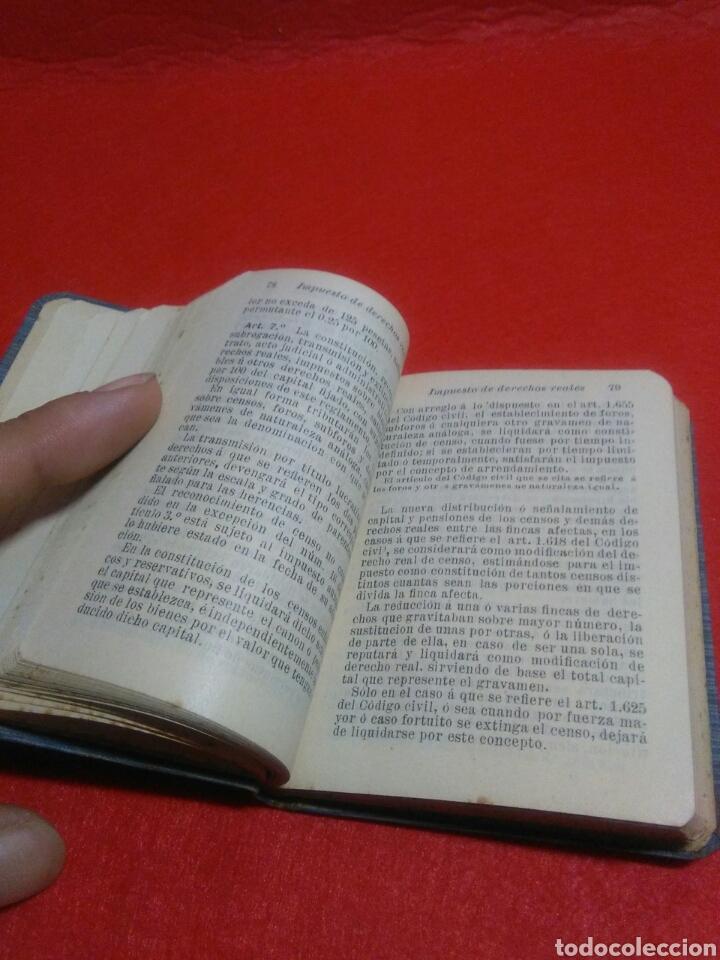 Libros antiguos: Pequeño libro de derechos reales S.calleja -Madrid 1876 - Foto 6 - 212058078
