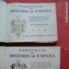 Libros antiguos: MANUEL SANDOVAL DEL RIO.-PORTFOLIO DE HISTORIA DE ESPAÑA.-DOS TOMOS.-COMPLETO.. Lote 212215315