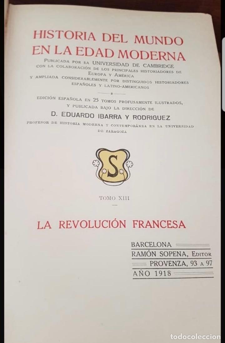 Libros antiguos: HISTORIA DEL MUNDO EDAD MODERNA TOMO I AL TOMO XXV EDUARDO IBARRA Y RODRIGUEZ ED SOPENA 1918 - Foto 7 - 212280450