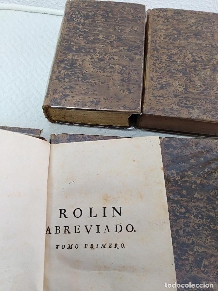 Libros antiguos: Edición Lujo-Compendio de la historia antigua o Rolin abreviado COMPLETO - AMBERES 1745. 6 Tomos - Foto 4 - 41240551