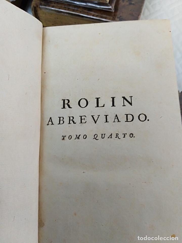 Libros antiguos: Edición Lujo-Compendio de la historia antigua o Rolin abreviado COMPLETO - AMBERES 1745. 6 Tomos - Foto 13 - 41240551