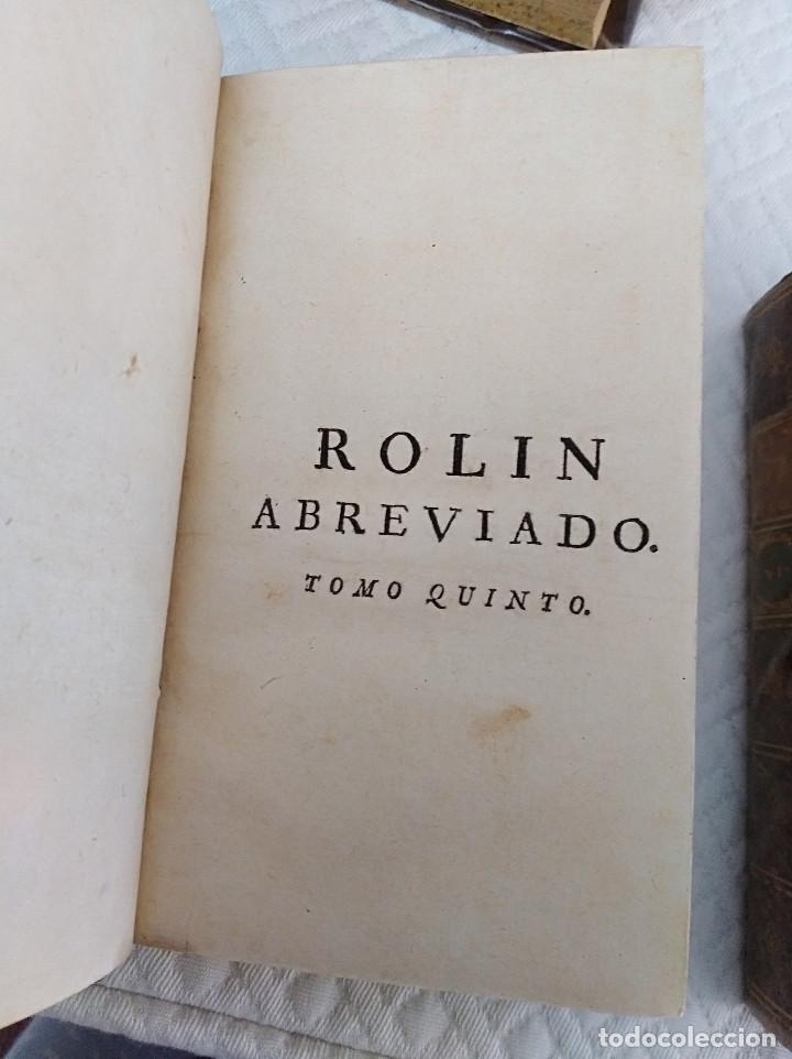 Libros antiguos: Edición Lujo-Compendio de la historia antigua o Rolin abreviado COMPLETO - AMBERES 1745. 6 Tomos - Foto 15 - 41240551